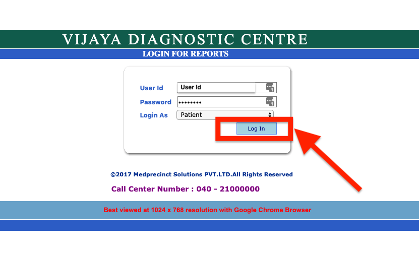 vijaya medical lab reports online